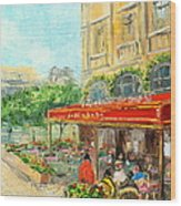 Paris Cafe Wood Print