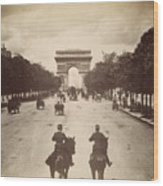 Paris Champs-�lys�es, C1900 Wood Print