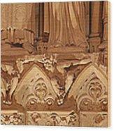Paris France - Notre Dame De Paris - 01137 Wood Print by DC Photographer
