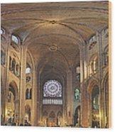 Paris France - Notre Dame De Paris - 01138 Wood Print by DC Photographer