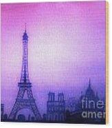 Paris Skyline Wood Print
