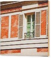 Paris Windows Wood Print