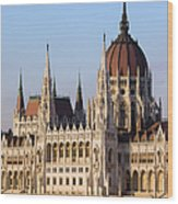 Parliament Building In Budapest Wood Print