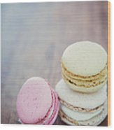 Pastel Macarons II Wood Print