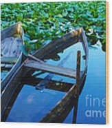 Pateira Boats Wood Print by Carlos Caetano
