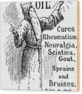 Patent Medicine, 1894 Wood Print
