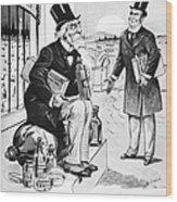 Patent Medicine Cartoon Wood Print