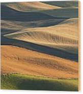 Patterns Of The Palouse Wood Print by Latah Trail Foundation
