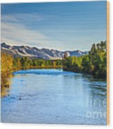 Peaceful Payette River Wood Print