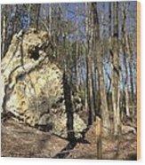Peach Tree Rock-5 Wood Print