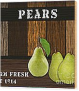 Pear Farm Wood Print