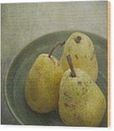 Pears Wood Print by Priska Wettstein