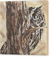 Peek A Who Wood Print