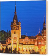 Peles Castle In Sinaia Romania Wood Print