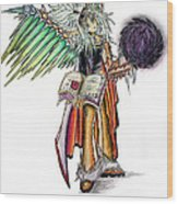 Pelusis God Of Law And Order Wood Print
