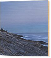 Pemaquid Point Lighthouse On The Maine Coast Wood Print