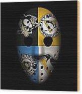 Penguins Goalie Mask Wood Print