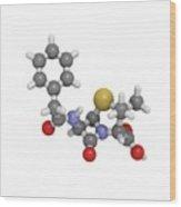 Penicillin G Molecule Wood Print
