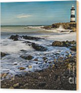 Penmon Lighthouse Wood Print