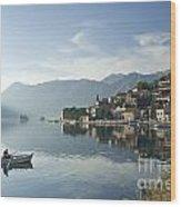 Perast Village In Montenegro Wood Print