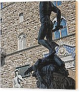 Perseus By Cellini Wood Print