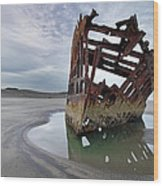 Peter Iredale At Dawn Wood Print