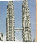 Petronas Twin Towers In Malaysia Wood Print