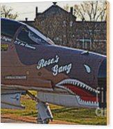 Phantom 4 Jet Vietnam Era Wood Print