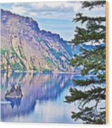 Phantom Ship Overlook In Crater Lake National Park-oregon Wood Print