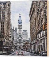 Philadelphia City Hall  Wood Print