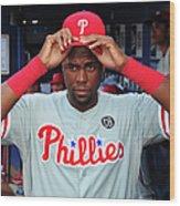 Philadelphia Phillies V Atlanta Braves Wood Print