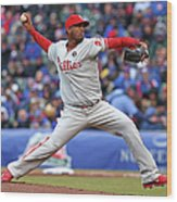 Philadelphia Phillies V Chicago Cubs Wood Print
