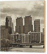 Philadelphia Skyline 1 Wood Print