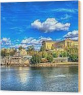 Philadelphia Water Works And Art Museum 1 Wood Print
