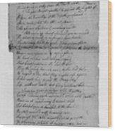 Phillis Wheatley (1753?-1784) Wood Print