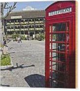 Phone Box London Wood Print