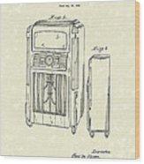 Phonograph Cabinet 1938 Patent Art Wood Print