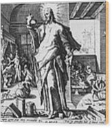 Physician As God Wood Print