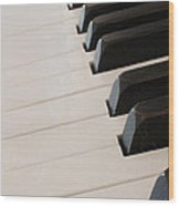 Piano Keyboard At Angle Wood Print