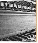 Piano Wood Print by Thomas Leon