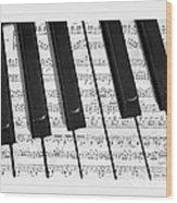Pianoforte Wood Print