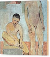 Picasso's Two Youths Wood Print