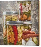 Pickled Vegetables Wood Print