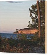 Pictured Rocks At Sunset Wood Print