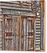 Pig And Poultry Barn Wood Print