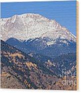 Pikes Peak Wood Print