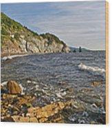 Pillar Rock In Cape Breton Highlands Np-ns Wood Print