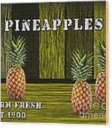 Pineapple Farm Wood Print