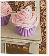 Pink Cupcakes Wood Print by Edward Fielding