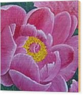 Pink Peony Wood Print